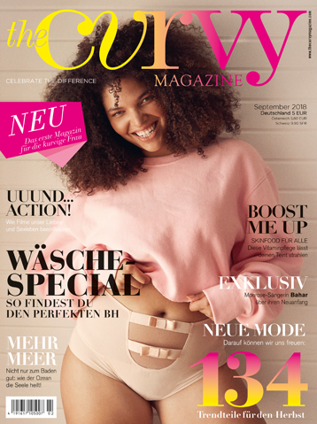"Cover ""The Curvy Magazine"""
